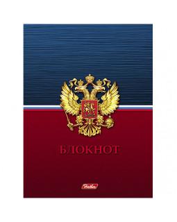 """Бизнес-блокнот """"Россия"""", А6, 80 листов, клетка"""