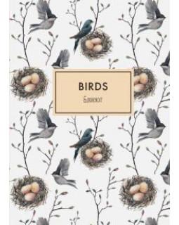 Блокнот. Birds (формат А4, твёрдая обложка, круглые углы)