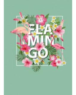 Блокнот. Фламинго (формат А4, твёрдая обложка, круглые углы)