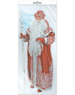 Плакат вырубной в пакете: Дед Мороз (с европодвесом и клеевым клапаном) *Ф-9872-П