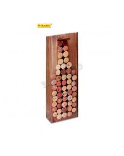 Бутылка из винных пробок Пакет подарочный ПКП-1371
