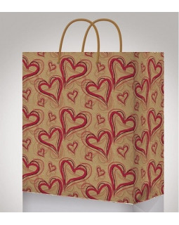 Красные сердца Пакет подарочный ПКП-0895