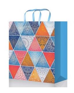Разноцветные треугольники Пакет подарочный ПП-9109