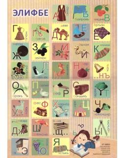 Крымскотатарский алфавит. Плакат А3
