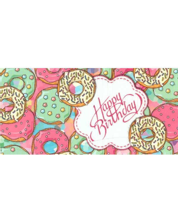 Happy Birthday Конвертик для денег с присыпкой. 42-00183