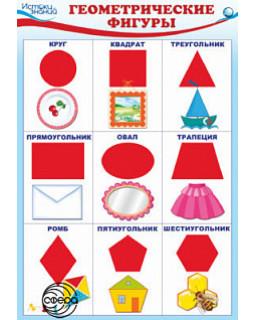 Плакат А3 Геометрические фигуры. ПЛ-10290