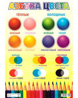 Азбука цвета. Плакат А3