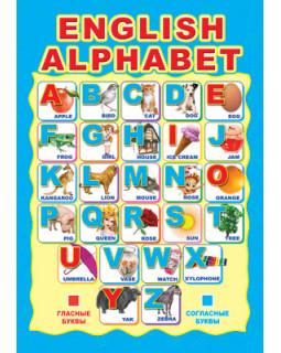 Плакат А3 Ламинированный Английский Алфавит. ПЛ-4942