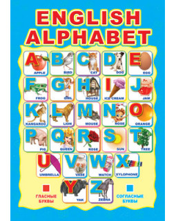 Плакат А3 Английский Алфавит. ПЛ-4942
