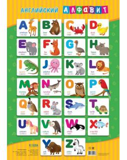 Плакат дидактический. Английский алфавит