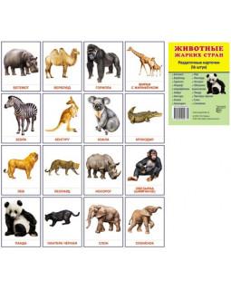 Животные жарких стран. 16 демонстрационных карточек с текстом