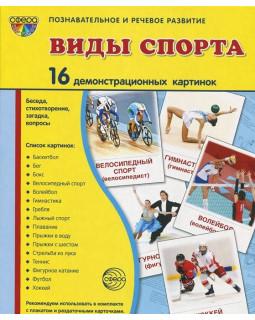Виды спорта. 16 демонстрационных картинок с текстом