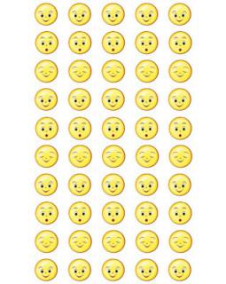Набор для поощрения на самоклеящейся бумаге Смайлики НМ-11050