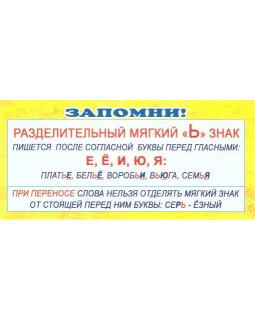 """Карточка Запомни! Разделительный """"Ь"""" знак ШМ-3350"""