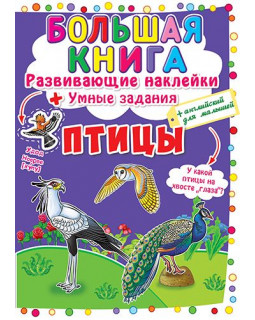 Большая книга. Развивающие наклейки. Умные задания. Птицы