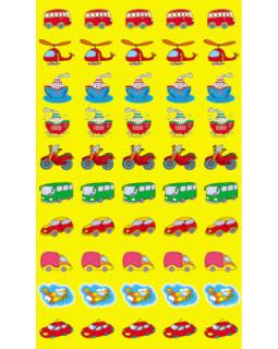 Набор для поощрения на самоклеящейся бумаге Машинки НМ-7734