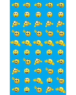 Набор для поощрения на самоклеящейся бумаге Смайлики с бровками НМ-7747
