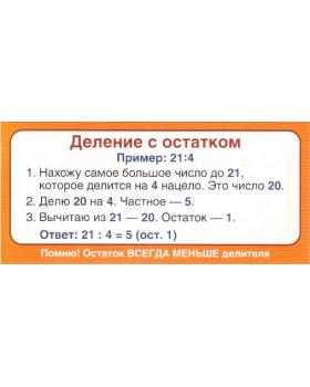 Карточка Запомни! Деление с остатком ШМ-12839