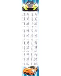 Закладка Таблица умножения М-4455