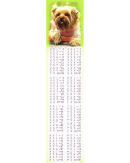 Закладка Таблица умножения М-6974