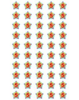 Набор для поощрения на самоклеящейся бумаге Звездочки 5 НМ-8115