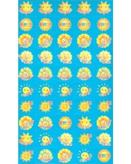 Набор для поощрения на самоклеящейся бумаге Солнышки SUPER НМ-8106