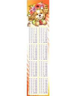Закладка Таблица умножения М-6248
