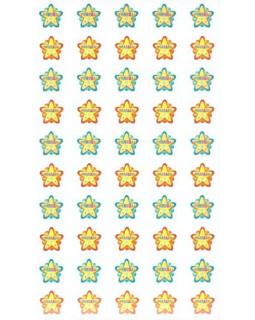 Набор для поощрения на самоклеящейся бумаге Звездочки МОЛОДЕЦ НМ-8100