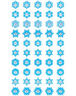 Набор наклеек для поощрения. Снежинки НМ-11460