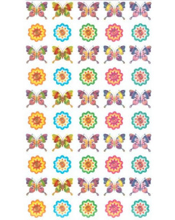 Набор наклеек для поощрения Бабочки и цветочки НМ-11435