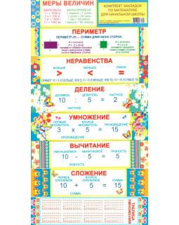 Комплект закладок для начальной школы 8 шт. (математика) КЗ-5496