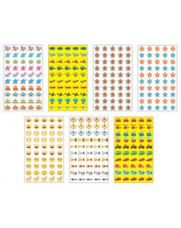 Комплект наклеек для поощрения мальчиков. 5 видов *КНМ1-10555