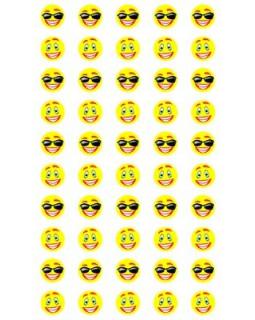 Набор для поощрения на самоклеящейся бумаге Смайлики в очках НМ-8114