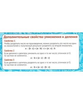 Карточка Дополнительные свойства умножения и деления ШМ-9155