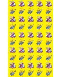 Набор для поощрения на самоклеящейся бумаге Паровозик НМ-7736