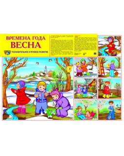 """Демонстрационный плакат А2 """"Времена года Весна"""""""