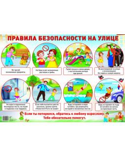 Демонстрационный плакат А2. Правила безопасности на улице