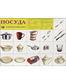 """Демонстрационный плакат А2 """"Посуда"""""""