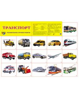 """Демонстрационный плакат А2 """"Транспорт"""""""