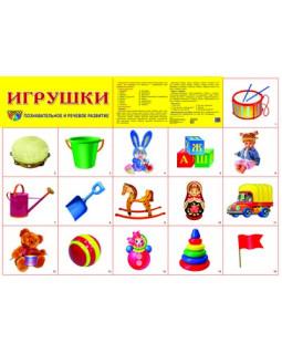 """Демонстрационный плакат А2 """"Игрушки"""""""