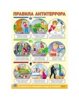 Демонстрационный плакат А2. Правила антитеррора