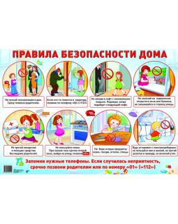 Демонстрационный плакат А2. Правила безопасности дома