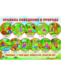 """Демонстрационный плакат А2 """"Правила поведения в природе"""""""
