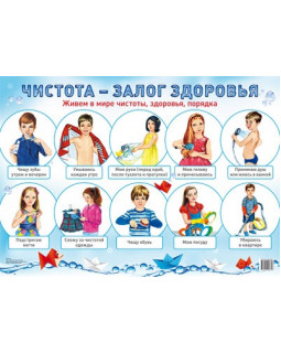 """Демонстрационный плакат А2 """"Чистота - залог здоровья"""""""