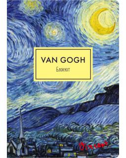 Блокнот. Ван Гог. Звездная ночь (формат А4, мягкая обложка, круглые углы, блок в точку)