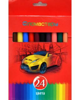"""Фломастеры """"BG"""" 24 цвета, """"Красная сила"""" в коробке"""