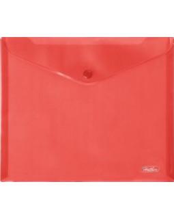 Папка-конверт Hatber на кнопке А5 красная
