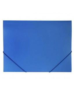 Папка Пластиковая Hatber А4 на резинке Синяя