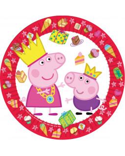 """Набор тарелок (6 шт.), 23 см, """"Пеппа-принцесса"""""""