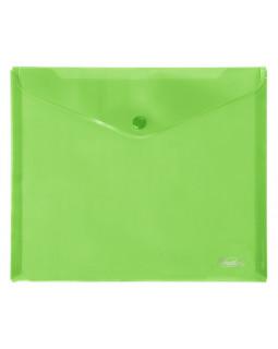 Папка-конверт Hatber на кнопке А5 зеленая